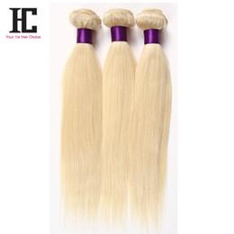 2019 ofertas del pelo del paquete rubio Producto de HC Brasileño Rubio Virgin Hair Bundles Deals Brazilian Virgin Hair 3 Bundles 100% Hunam Extensiones de cabello Extensiones rebajas ofertas del pelo del paquete rubio
