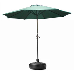 Wholesale Umbrella Holders Stands - Wholesale- Outdoor Furniture Parasol Garden Umbrella Stand Round Patio Umbrella Bases Foundation Billboard Holder sun shelter accessories