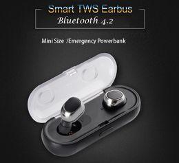 Wholesale Mini Hd Headphones - True Wireless Earbuds TWS 16 Mini Headphones Bluetothe 4.2 HD Call with Charging Box Double Twins Stereo earphone Hands Free