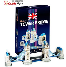 Wholesale 3d Puzzle Card Models - Wholesale-Paper model,Children's DIY toy,Paper craft,Birthday gift,3D educational Puzzle Model,Card model,Tower Bridge