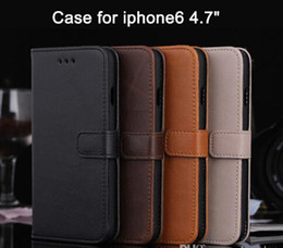 Wholesale Iphone Card Holder Flip Case - For iphone7 case Crazy Horse wallet PU Leather Flip Hard Case Cover Card Holder Cases For iPhone 6 6s 7 plus