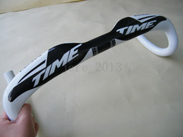 Wholesale Rxrs Time Bikes - promotion sale ! Time rxrs RTM carbon road bike handlebar, bicycle parts,full carbon fiber handlebar,white color,free shipping