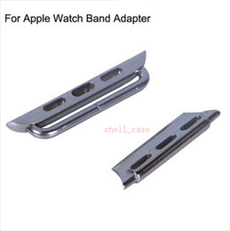 Wholesale Watch Fastener - 2015 Band Watchband Fastener Connector Jockey For Apple Watch Genuine Leather Wrist Band Strap For 38 mm 42mm iWatch Watchband Strap Adapter