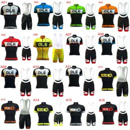 Wholesale Ale Cycling Jerseys - New Style 2017 ALE Cycling Jersey Set Breathable Ropa Ciclismo Bike Clothing Racing bicycle shirt bib shorts with 3D GEL PAD K2102