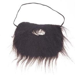 Wholesale costume beards - Wholesale-Hot Popular Funny Costume Party Halloween Fake Beard Moustache Mustache Facial Hair #71733