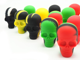 Wholesale container design - Sample-1 piece NonStick Silicone Container slick containers skull shape container new design