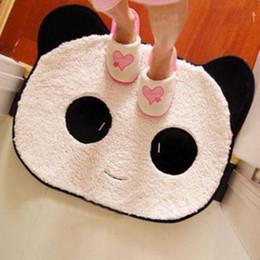Stuoie del pattino della peluche del fumetto della panda del fumetto di Pernycess di smiley / stuoie ricche del tappeto della peluche del doormat da