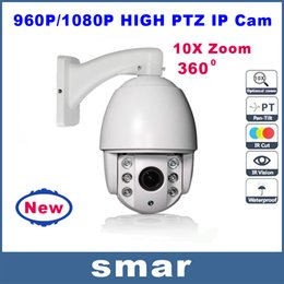 Wholesale Outdoor Mini High Speed Ptz - New 960P 1080P Mini High PTZ IP Camera Outdoor Weatherproof 10X Zoom Lens 1.3MP 2.0MP HD Network IP CCTV Speed Dome Camera Onvif