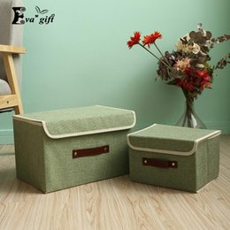 Wholesale Fold Socks - Solid color small fresh storage box Container Closet Boxes For Clothing Socks organizer travel folding clothing boxes q171126
