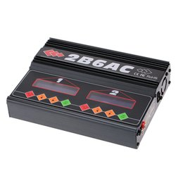 Wholesale Dual Lipo Battery Charger - Brand 2B6AC 2 * 50W Dual Power Multifunction AC DC Balance Charger Discharger for RC LiPo LiLo LiFe MiMh NiCd PB Battery order<$18no track