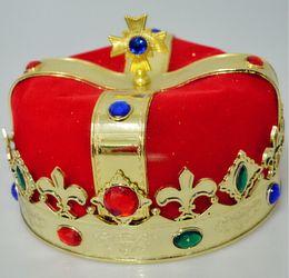 Wholesale Masquerade Headdress - Fashion cosplay Masquerade Holiday dress royal kings Crown coroa rei headdress