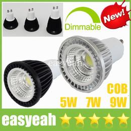 Wholesale Cree Down Spot Light - Newest CREE 5W 7W 9W COB LED Spotlights Dimmable  Non GU10 E27 E14 MR16 GU5.3 CRI>88 Display Cabinet Spot Down Lights Bulbs Lamps CSA UL SAA