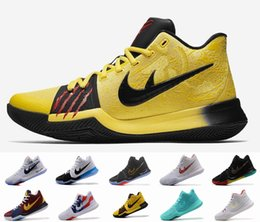 Wholesale Pvc Channels - 2017 Kyrie Irving Channels Mamba Mentality With Kyrie 3 Bruce Lee Basketball Shoes High Quality Signature Sports Sneakers
