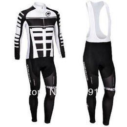 Wholesale Assos Cycling Clothes - new items Professional Assos winter thermal cycling jerseys set Long Sleeve cycling jersey + Cycling Bib pants bike clothing winter
