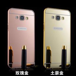 Wholesale S4 Case Chrome - Samsung Galaxy S7 Edge S6 Edge Plus S5 S4 S3 C5 C7 Luxury Metal Bumper PC Chrome Plating Mirror Back Cover Case