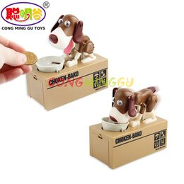 Wholesale Plastic Toy Banks - CONG MING GU 1Pcs Cutest Choken Bako Robotic Dog Bank Toy Doggy Coin Bank Canine Money toy Saving Box Coin Bank Money Box Gift