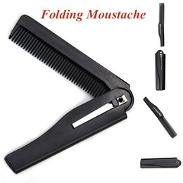 Wholesale Hair Styling Tools For Men - Wholesale- New Style Hair Folding Moustache & Beard Comb Hand Made Hairbrush Hair Styling Tools For Men Women #94963