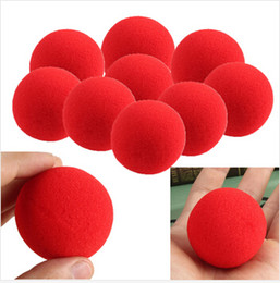Wholesale New Magic Sponge - Free shipping 10pcs lot high quality New Fashion Close-Up Magic Sponge Ball Brand Street Classical Comedy Trick Soft Red Sponge Ball