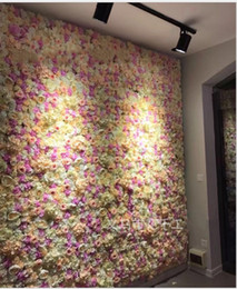 Wholesale Free Rose Background - flower wall Silk rose tracery wall encryption floral background artificial flowers creative wedding stage free shipping
