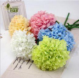 Wholesale White Flower Arrangements For Home - Artificial Hydrangea Flower Dia. 20cm Length 65cm Silk Flowers Single Hydrangeas for Wedding Arrangement Home Party Decoration