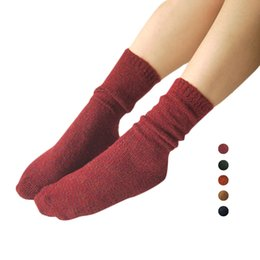 Wholesale Thick Red Wool Socks - S5Q Women Soft Cotton A Variety Of Colors Solid Color Warm Short Thick Socks AAAFRU