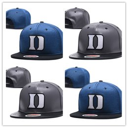 Wholesale Embroidered Football - 2018 New Style Duke Blue Devils Basketball Caps,Snapback College Football Hats,Adjustable Cap Cheap Duke Hat,Wholesale,Free Shipping