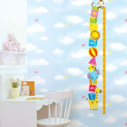 Wholesale Height Stick For Kids - Animals Height Stickers Combinative Sticking Paper Cartoon Rangefinder Wall Sticker DIY Home Decor Wall Mural Adhesive Decal