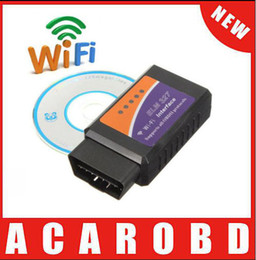 Wholesale Wifi Obd Android - Wi-Fi Elm327 OBD 2 II Car Diagnostic Interface Scanner Support For Android iPhone iPad Free Shipping