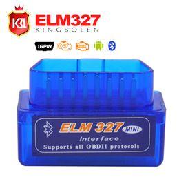 Wholesale Pc Diagnostic Tools - Wholesale-2015 Free Shipping Super Mini ELM327 Bluetooth Interface V2.1 OBD2 II Auto Diagnostic Tool ELM 327 Work ON Android Torque PC