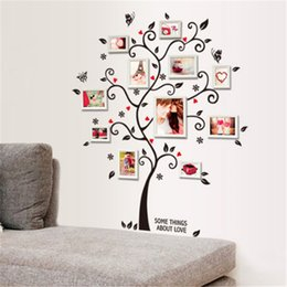 Wholesale Wholesale Religious Art Framed - DIY Family Photo Frame Tree Wall Sticker Home Decor Living Room Bedroom Wall Decals Poster Home Decoration Wallpaper Factory Wholesale