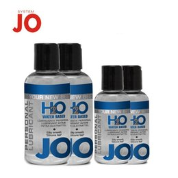 Wholesale Warm Sex - Natural 75ml JO H2O Climax Lube Feel Water Based and Silky Smooth Lubricants Vagina ANAL Body Sex Oil Normal Cool Warming A11