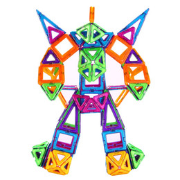 Wholesale Toy Magnets Building - 36Pcs set Similar Blocks Pure Magnetic Building Blocks Triangle Square Rhombus Shapes And Wheels Magnet Toys Children