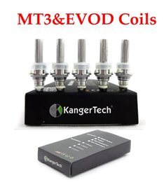 Wholesale Kangertech Mini T3s - Kangertech Evod mt3 electronic cigarette atomizer heating coils 1.8 2.2 2.5 ohm for Mt3 GS-H2 mini protank T3s