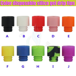 Wholesale silica tips - 2016 Color disposable silica gel 510 drip tips huge vaporizer wide bore Mouthpiece dripper tip e cig cigarette atomizer RDA tank Dripping