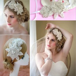 Wholesale America Bridal - Europe and America high-end luxury handmade crystal inlaid diamond sweet princess flower hair accessories bridal Headpiece Tiaras