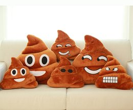 Wholesale Wholesale Funny Christmas Presents - 4 style Decorative Cushion Emoji Pillow Gift Cute Shits Poop Stuffed Toy Doll Christmas Present Funny Plush Bolster Pillows