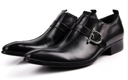 Wholesale Coffee Color Shoe Man - oxford shoes Deep coffee color yellow  black mens business dress shoes genuine leather pointed toe mens wedding shoes