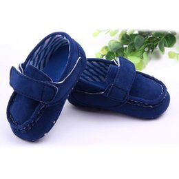 Wholesale Wholesale Crib Shoes - Wholesale-High Quality Baby Boys Moccasin Crib Shoes Baby Girls Suede Loafers Newborn Toddler First Walker Shoes