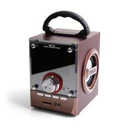 Wholesale Wholesale Dj Speakers - Speaker MS-18BT   CV-18   CV-356 LED Wood Luxury Mobile Multimedia Wireless Bluetooth Portable Speakers USB TF AUX FM Outdoor DJ Super Bass