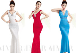 Wholesale Diamond Strapless Prom Dresses - Bridesmaid Dress Sexy Dress Bridesmaid Dress New Prom Womens Sexy Strapless and Diamond Ornament Evening Dress Hot Womens Backless and Wrap