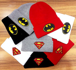 Wholesale Superman Winter Caps - 8 Styles Hot Beanies Hats hip hop Winter hat street in Sport Hats tide brand headgear Head Winter hats caps Superman
