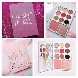 Wholesale Valentines Wear - I Want It All 2017 New Arrival Makeup Kylie valentine eyeshadow The Birthday Collection Eyeshadow Palette + Blush Kylie Jenner 11 colors