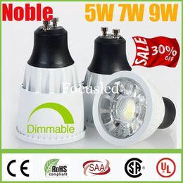 Wholesale 9w Led Bulb Power Supply - Crazy 30% OFF-CREE 5W 7W 9W COB LED Lights Spotlights GU10 E27 MR16 Dimmable  Non White Led Spot Bulbs Lights Lamp Power Supply +CSA SAA CE