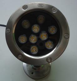 Vente chaude 18W 12V LED sous-marine RGB / Blanc chaud / froid étanche IP68 piscine piscine fontaine corps en aluminium 4pcs / lot ? partir de fabricateur