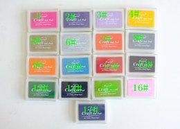 Wholesale Ink Pads For Stamps - 2015 hot sales mix 17 colors for choosing Korea stationery inkpad DIY Scrapbooking Craft Ink pad Creative Cute stamp Inkpad Stamps