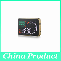 Wholesale Ups Systems Wholesalers - X6 3 inch Auto Car HUD Head Up Display Fuel Consumption Overspeed Warning Windshield Project Alarm System OBDII OBD 2 Interface 002989