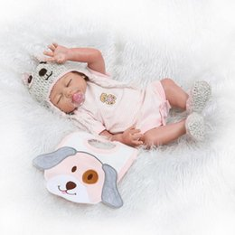 "Wholesale Full Dolls - Wholesale- Full body silicone reborn baby dolls NPK 20"" doll reborn babies real alive bebe reborn bonecas children gift toy dolls"