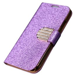 Wholesale Galaxy S4 Diamond Cases - S5Q Luxury Diamond Flip PU Leather Wallet Cases For Samsung Galaxy S4 Mini I9190 AAAEML