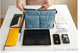 Wholesale Ipad Purse Organizer - 2014 IPad Bag in Bag Organizer Inner Bags Binder Organizer Insert Travel tablet pouch Multifunction Purse Gadget Pocket 100pcs WY345