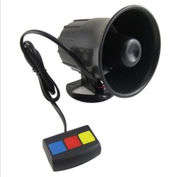 Wholesale Motorcycle Mp3 12v - Hot Sale 12V 30W 3 Sound 110db Tone Wehicle Car Motor Motorcycle Van Truck Siren Loud Horn Auto Speaker Alarm FreeShipping